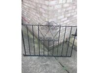 Black small wrought iron gates pair