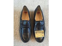 BRAND NEW St Michael wider fit black leather male loafers/moccasins UK 7-7.5 EUR 41 £35 ONO