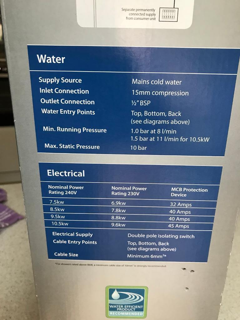 Triton Electric Shower In Sheffield South Yorkshire Gumtree Showers As Well Wiring Diagram Also