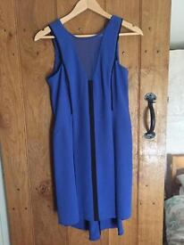 Warehouse Blue and Black Dress
