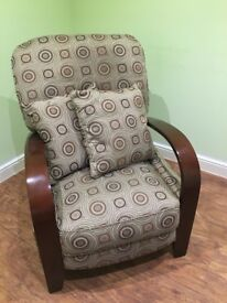 2 modern recliner chairs