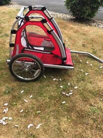 Halfords single child bike trailer