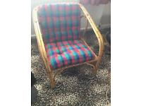 Two garden/conservatory wicker chairs