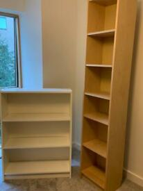Two IKEA book cases