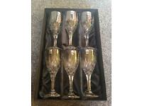 Gleneagles of Edinburgh Crystal Red Wine Glasses x 6