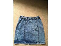 Denim skirt size 10, Primark
