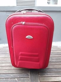 Red Hand & Hold Luggage, Suitcase, Weeled, Expandable, Light, Travel