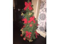 2.5ft decorated xmas tree