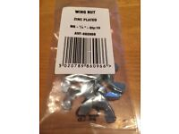 Wing Nut M6 (1/4 inch) - Bright Zinc Plated Pack of 9