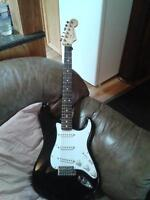 mexi strat stock nice playing guitar