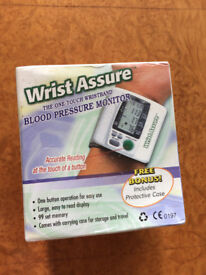 New - blood pressure monitor