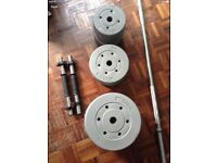 Dumbbell and barbell set