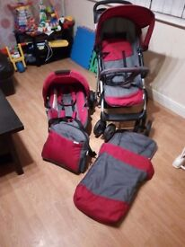 great condition hauck travel system -push chair-car seat and more
