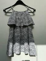 Kleid, weiß-grau, Grafikmuster, Volant, Gr. 116 Brandenburg - Doberlug-Kirchhain Vorschau