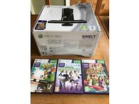 Xbox 360 250gb and Kinect plus 3 games