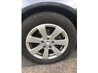 """Mercedes 16"""" alloy wheels & tyres"""