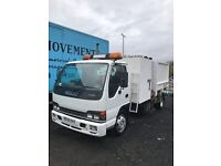 Isuzu NQR 7.5 ton tipper with side bin lift,manual gearbox,mot March 2018