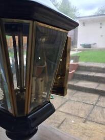 Solid brass outside garden light