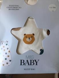 BNIB 6-18m baby sleeping bag M&S