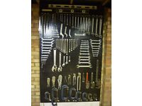 SPANNERS..WRENCHES..CLAMPS..STILSONS..WORKSHOP RACK