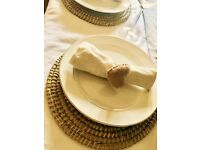 60 NEW natural woven round table mats - Perfect boho summer wedding (more available )