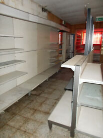 Fit out your shop for less than £ 500 Large quantity of Heavy Duty, Flexible Wall & Island units