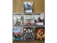 PS3 games for sale, incl Assassin`s Creed games