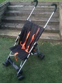 Mamu Stroller/Buggy. Black & Orange.