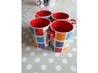 Whittard of Chelsea Checked Pattern Mug Set