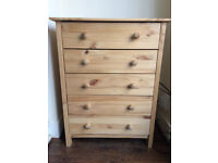 Wooden chest of drawers (5 drawers) for sale in Bounds Green