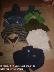 boys jumpers 8, 8-9 and 9-10 years