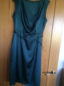 Size 12-14 teal satin dress