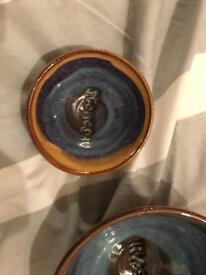 Matching olive & stones bowls