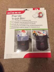 Pop up trash bin