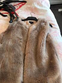Topshop fur waistcoat size 10