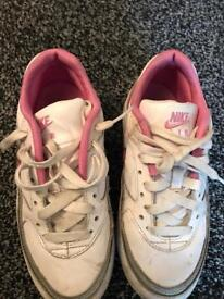 Pink nike air trainers genuine leather size UK2
