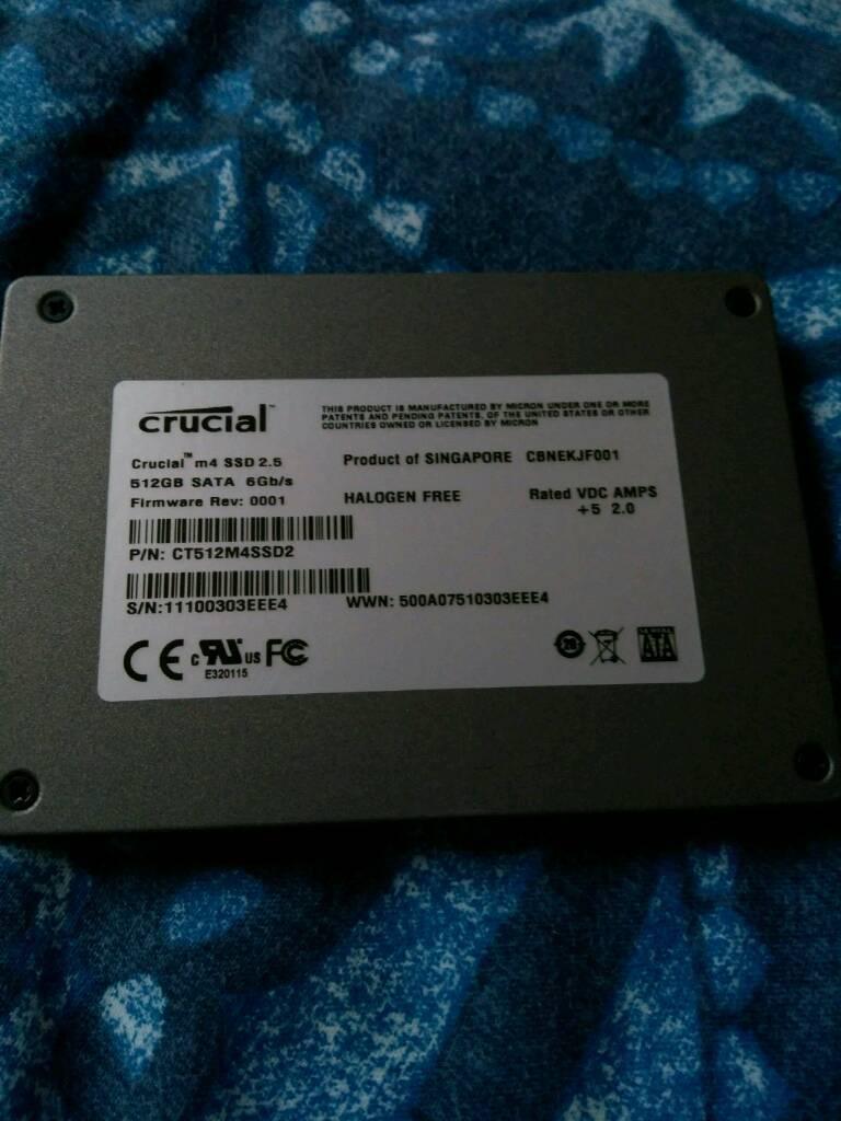 Crucial M4 512GB SSD