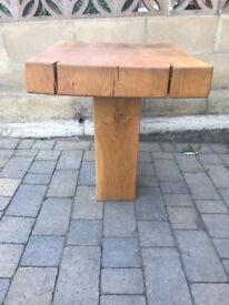 Oak side table.