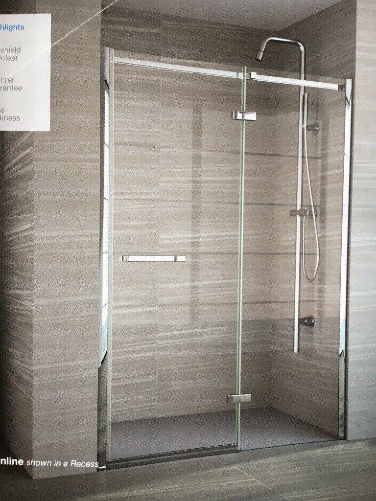 Merlyn 8 Series Frameless 1000mm Hinge Inline Shower Door New