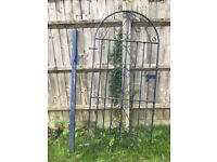 WROUGHT IRON SIDE GATE AND POST