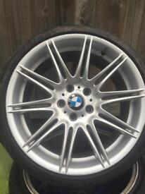 """Set of four genuine 19"""" mv4 alloy wheels and tyres"""