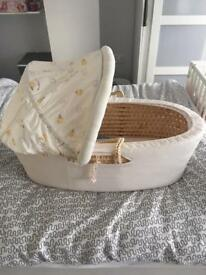 Little Stitch and Mr Hedgehog Moses Basket and Stand