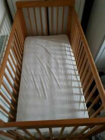 Mothercare babycote with mattress