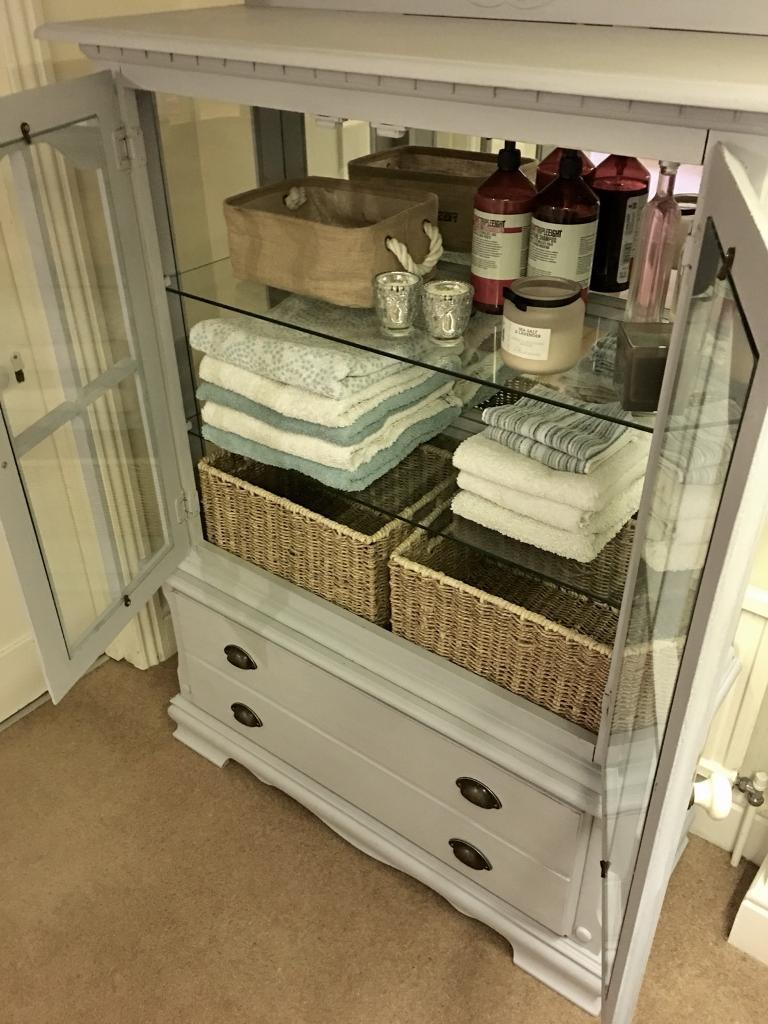 Armoire Linen Press Display Cabinet Bathroom Cupboard Dining Room Dresser Sideboard Buffet