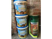 Ronseal fence life plus and Ronseal sprayer
