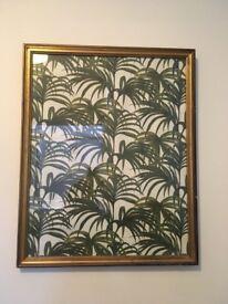 Vintage style large framed House of Hackney Palmeral print paper