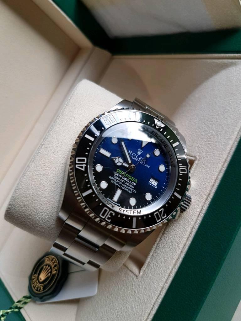 Brand new unworn rolex deepsea D-BLUE watch 116660 James cameron