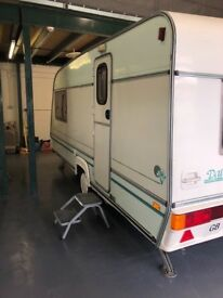 2 berth caravan 1995 in good condition. All our caravans are checked to ensure a reasonable quality