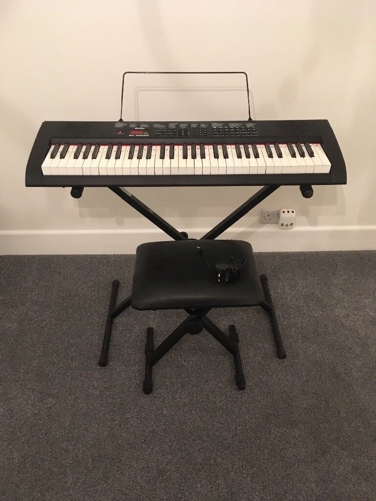Keyboard with stand and seat