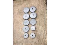 Vinyl weights. 44kgs. £20